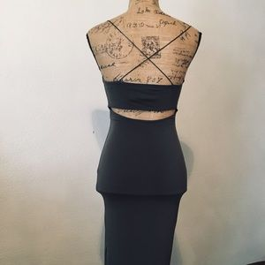 F21 midi dress with open back